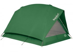 Pic of the erected tent, perfect for scout camp gear